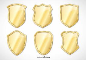 Gold Vector Shield Set