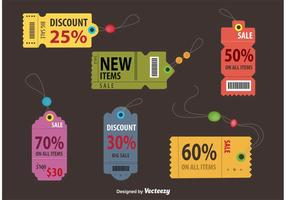 Retro Discount Coupon Tags vector