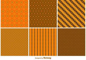 Halloween Autumn Patterns vector