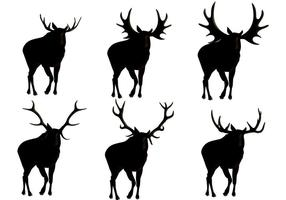 Moose Silhouette Vectors