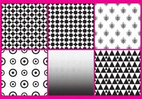 Black And White Patterns vector