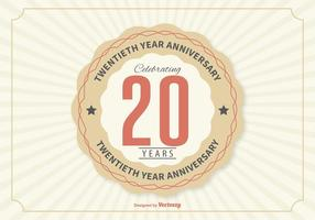 Twentieth Year Anniversary Illustration vector