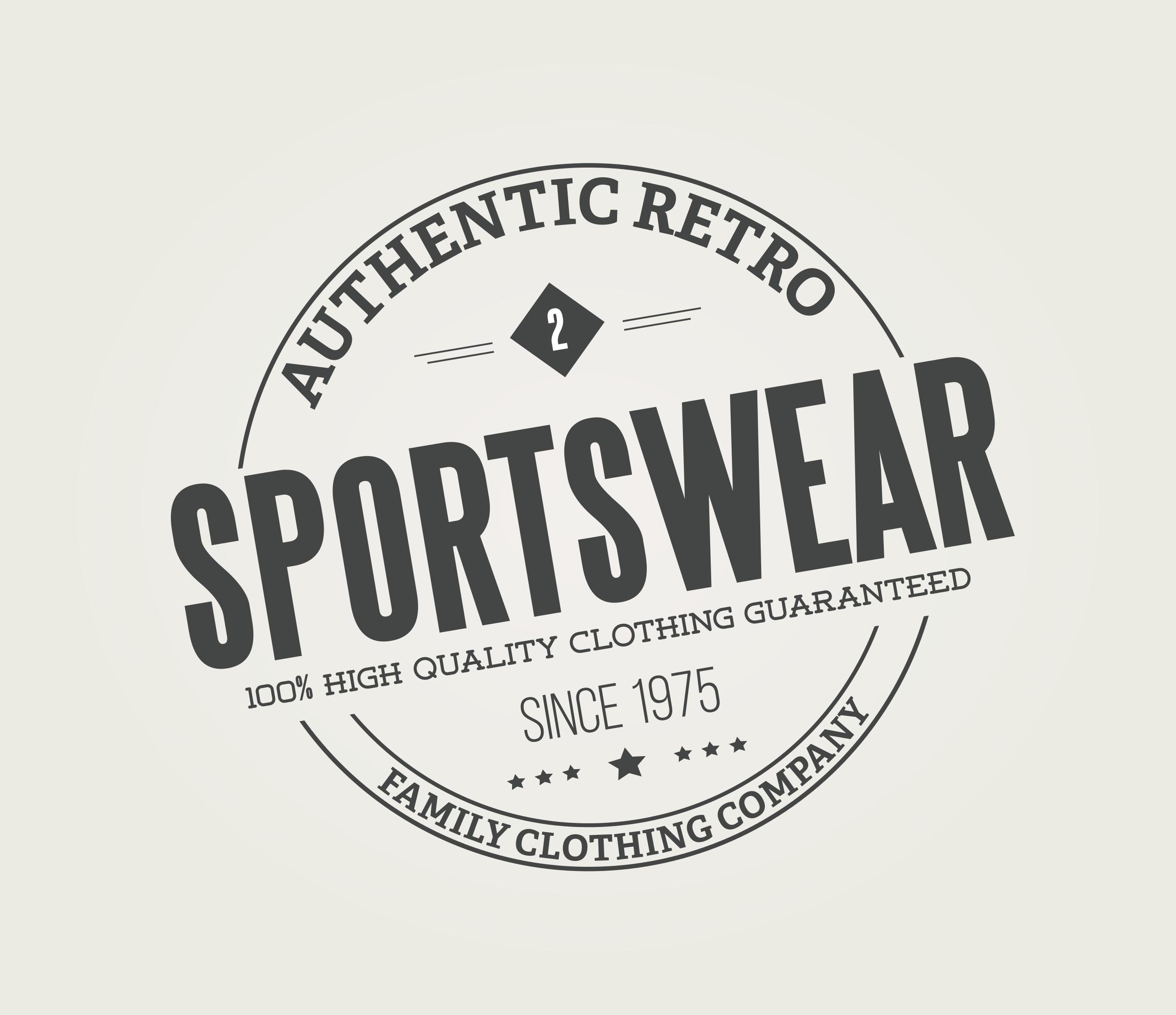 vintage logo badge template download free vector art stock