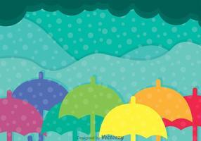 Colorido Paraguas Vector