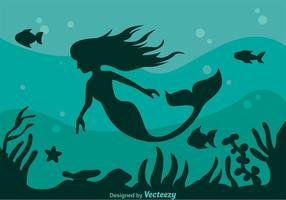 Mermaid Silhouette Bakgrund