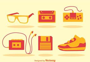 80s Retro Icons vector