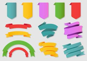 Colorful Flat Ribbons vector