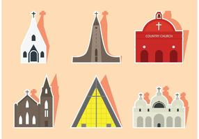Flat Church Vectors