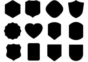 Gratis Black Shield Vectors