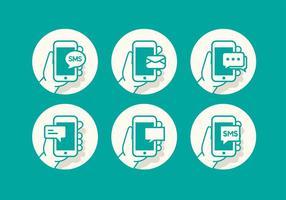 Conjunto de iconos de SMS