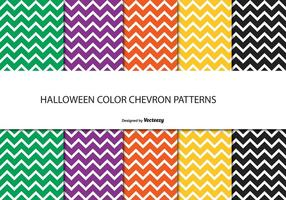 Halloween chevron mönster set