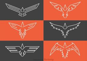 Symmetrische Hawk Logos