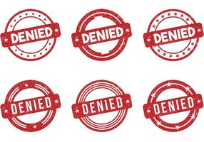 Denied Stamp Vectors