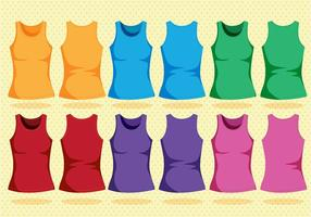 Colorful Tank Top Template vector
