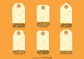 Giraffe Print On Hanging Note Template