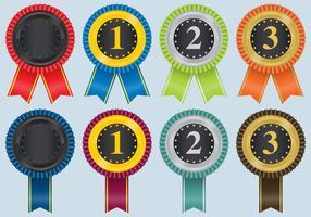 Rosette Preis Farbband Vektoren