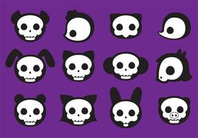 Cute Animal Skull Vectors