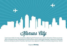 Kansas stadt skyline illustration