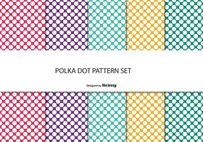 Colorful Polka Dot Pattern Set vector