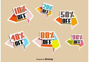 Discount Sale Badges vector