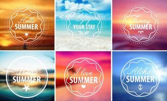 Bonjour Emblèmes d'été