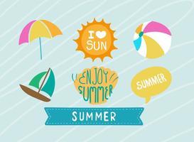 Elementos lindos del verano