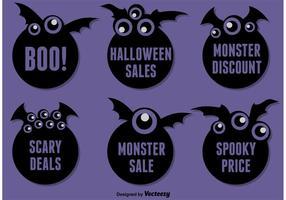 De Stickers van de Batel van Halloween