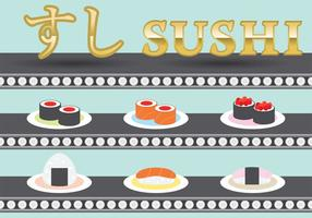 Vettori di piatto di sushi