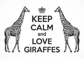 Free Keep Calm And Love Giraffes Vector Poster