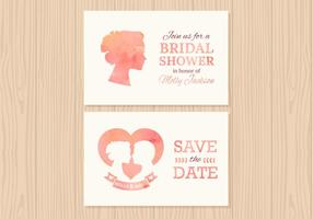 Free Wedding Invitation Vector Cards