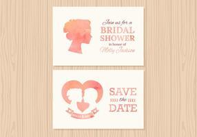 Cartes vectorielles gratuites pour invitation de mariage