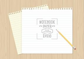 Free Notebook Paper Background Vector