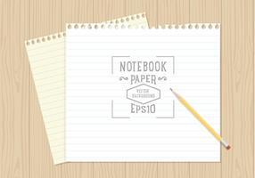 Vetor livre de papel de caderno
