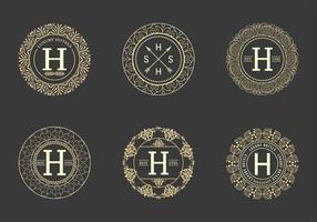 Retro  Hotel Logos Vector