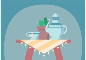Vectores altos del té