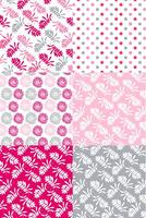 Valentine Floral Pattern Set