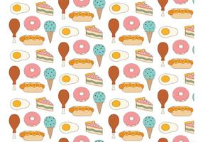 Voedsel Achtergrond Patroon