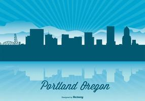 Portland oregon skyline illustration