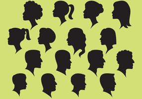 Mujer Y Hombre Y Silueta De Vectores