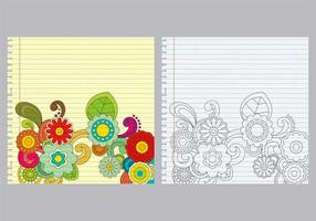 Paisley notebook vectoren