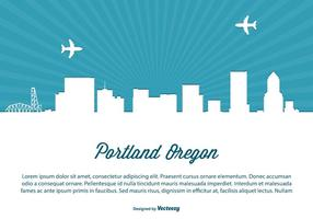 Portland Skyline Illustratie