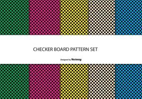 Checkerboard Style Pattern Set vector