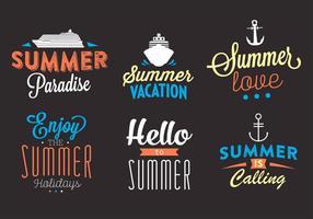 Typographic Backgrounds of Summer Activities in Vector