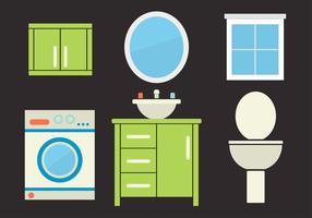 Vector Illustration of a Bathroom