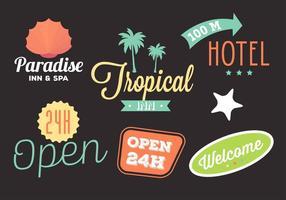 Coleção de vários logos de hotel em vetor