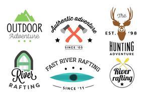 Typografiska bakgrunder av flera utomhusaktiviteter i vektor