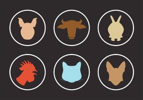 Vector Sammlung von Tier Silhouetten