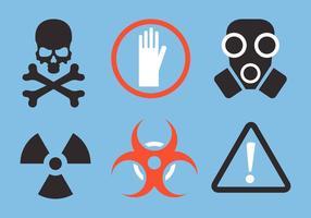 Conjunto vetorial de diferentes sinais de veneno