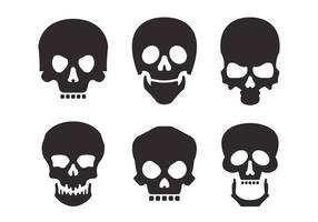Conjunto de vectores de silueta de cráneo