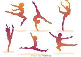 Vectores de gimnasia de la muchacha